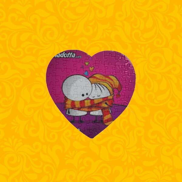 چاپ عکس و طرح دلخواه روی پازل طرح قلب عاشقانه پازل قلبی پازل قلب